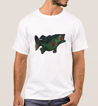 Image of Men's Large Mouth Bass Crew Neck T-Shirt