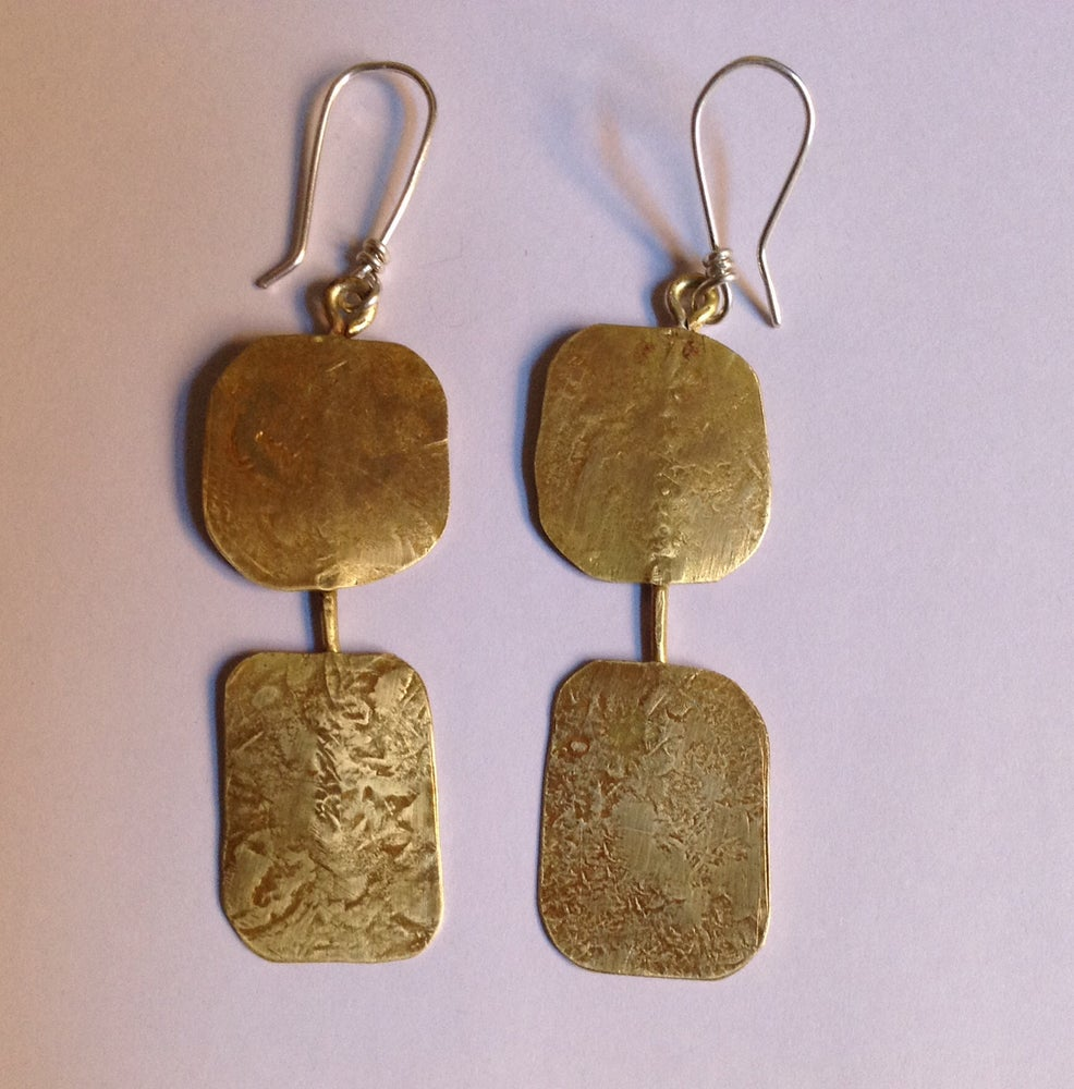 Image of Rustic Brass Earrings