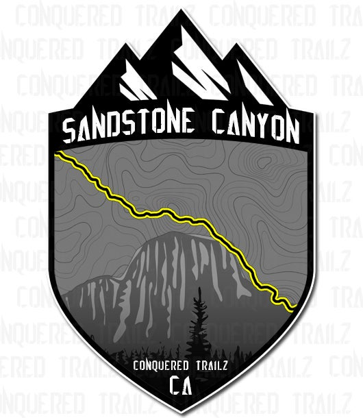 """Image of """"Sandstone Canyon"""" Trail Badge"""