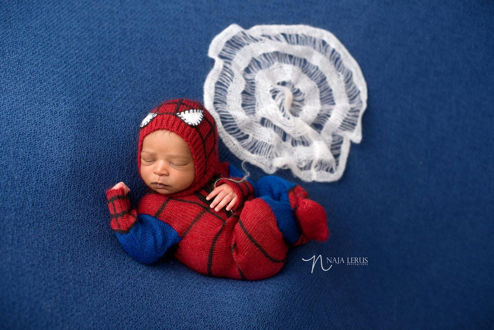 Image of Little Spiderman Jammy/Hat Set