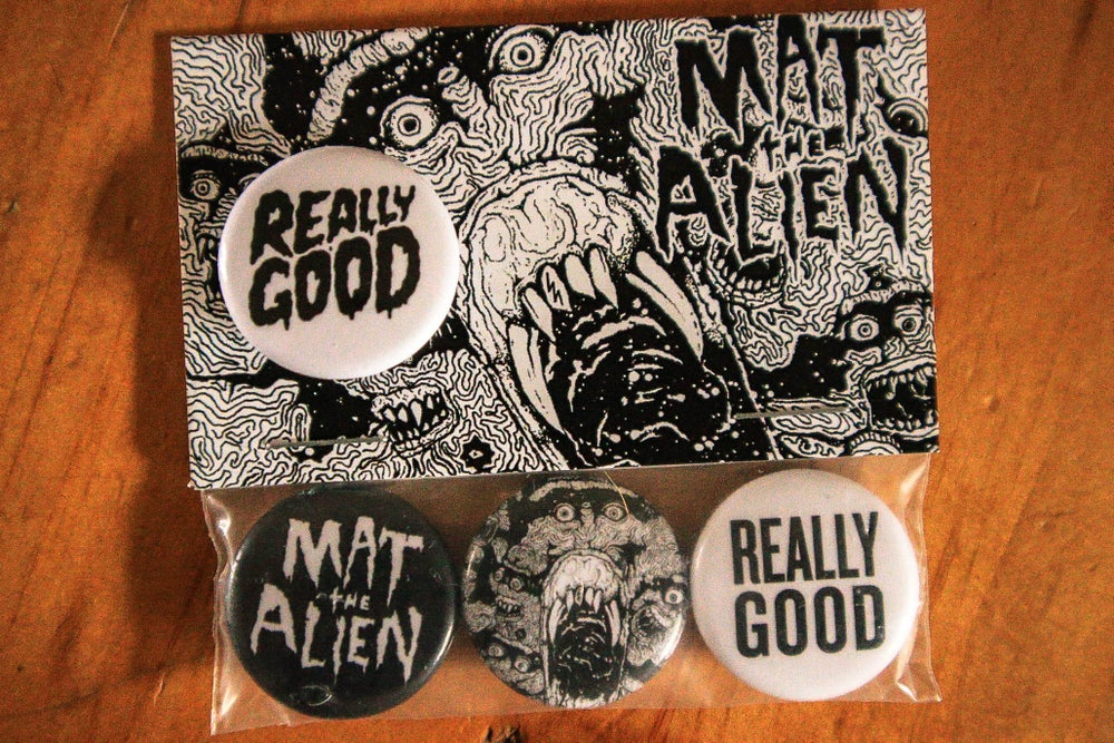 Image of Buttons - Pins (3 Pack MTA , Really Good & Skulls) w extra Really Good Pin