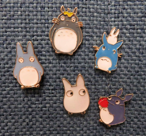 Image of Chinchilla/Totoro Pins