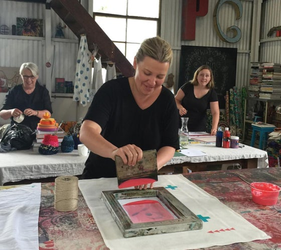 Image of Screen Printing with Cath D. Sunday April 7th..2-5pm (Inner West Creative Trail Programme)