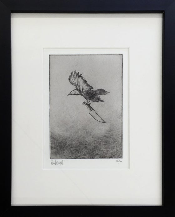 Image of untitled crow / intaglio - drypoint edition of 250 / framed