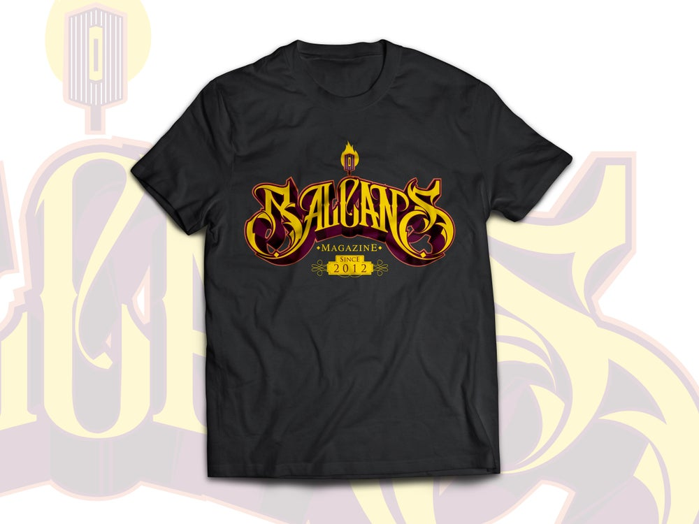 "Image of T-Shirt ""Balcans Magazine Since 2012"""