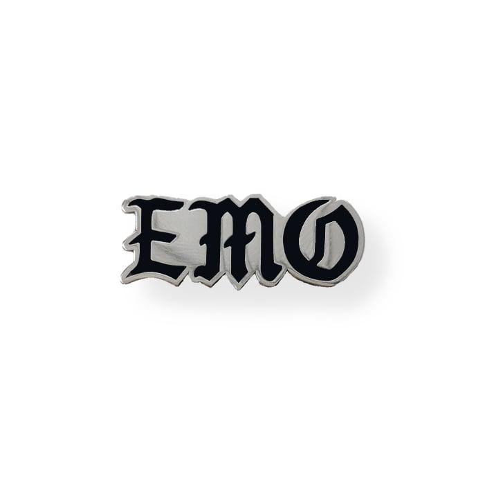 Image of 'EMO' Pin - Silver