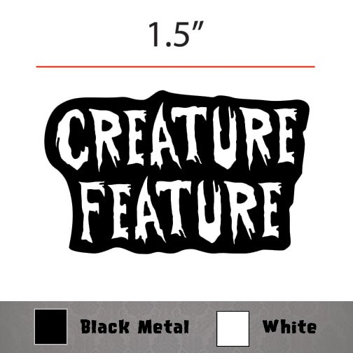 Image of Creature Feature Logo Enamel Pin