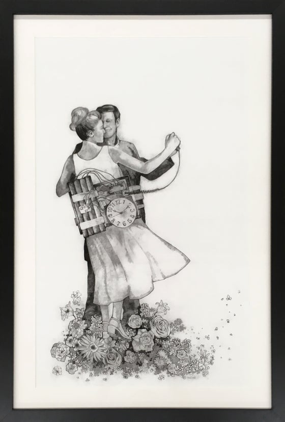 "Image of ""I said kiss me, you're beautiful, these are truly the last days"" / giclee`, matted, framed"