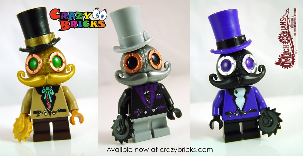Image of NEW!  Mr. SILVER Mechtorian custom minifigure
