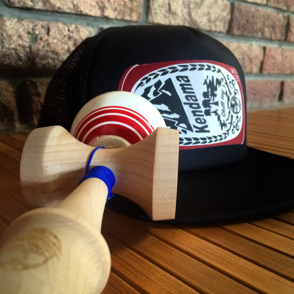 Image of Vintage Beer can Kendama Trucker Hat Version 2