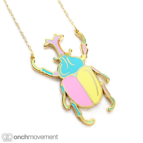 Image of Unicorn Beetle Necklace (Clearance Sale)