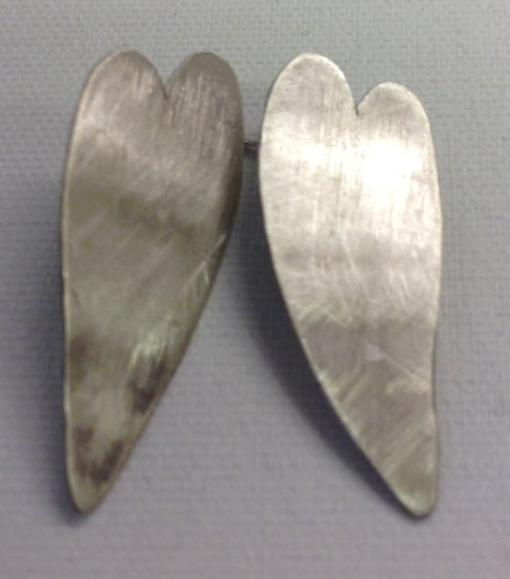 Image of Silver Heart Studs