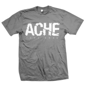 "Image of ACHE ""Logo Fade Away"" Charcoal Gray T-Shirt"