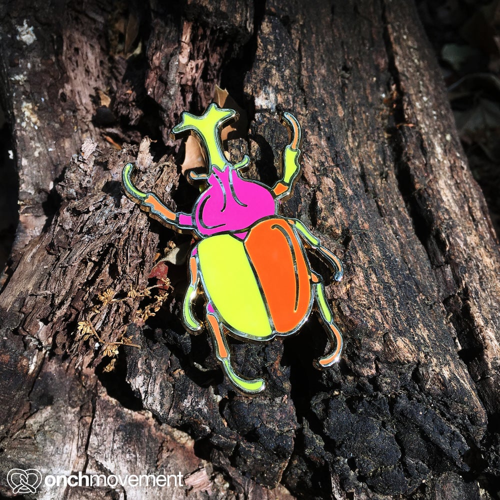"Image of ""Summer"" Unicorn Beetle Brooch"