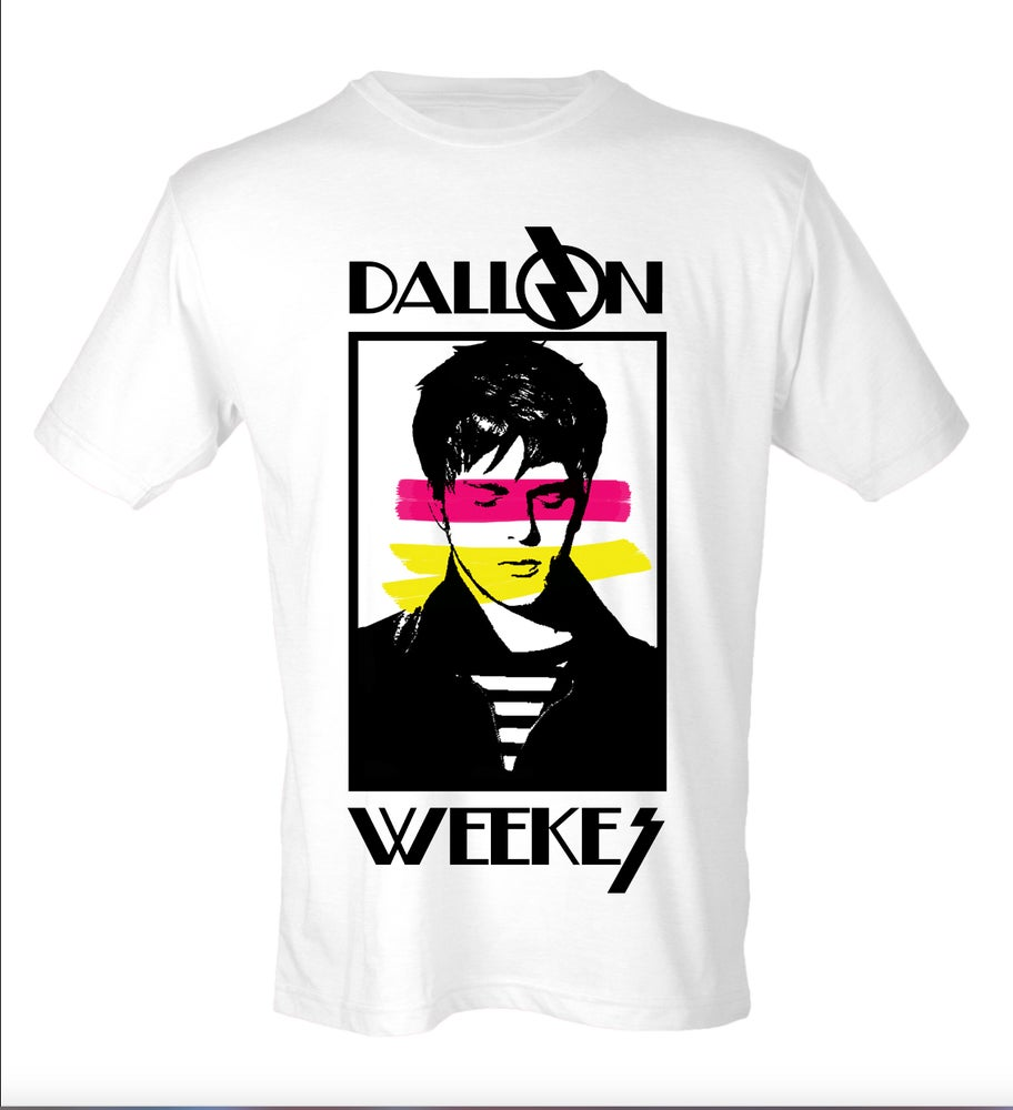 Image of 80's RETRO DALLON TEE Pink/Yellow