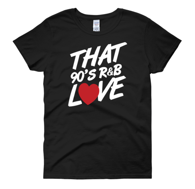 Image of 90'S LOVE (BLACK T-SHIRT)