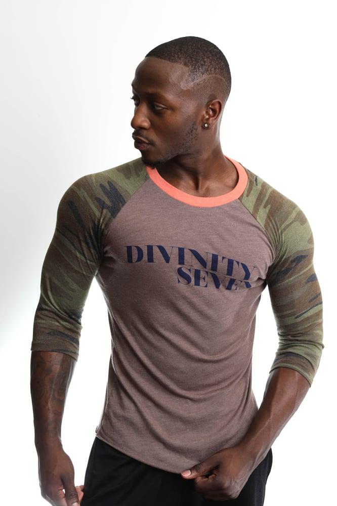 Image of Divinity Seven Script Baseball T-Shirt