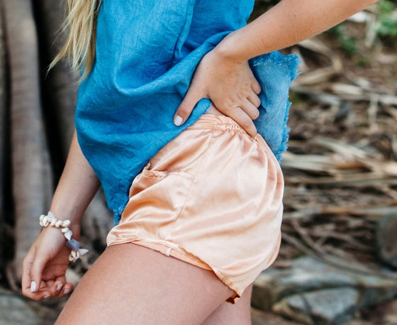 Image of Clio Satin Silk Shorts