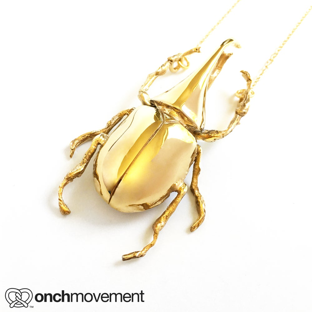 Image of Golden Unicorn Beetle (14K)