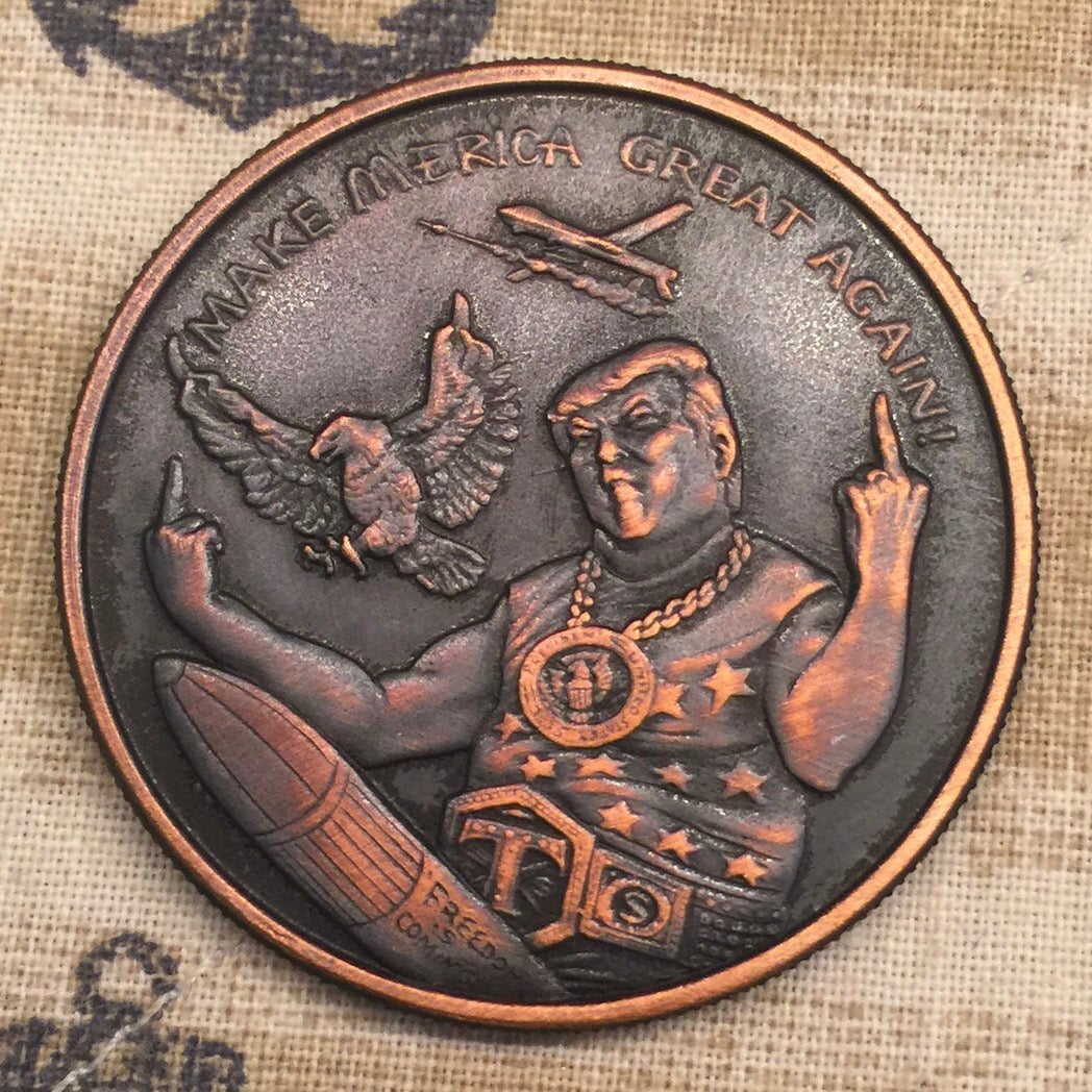 Freedom is Coming 1oz Copper Challenge Coin / Rowan Valley ...