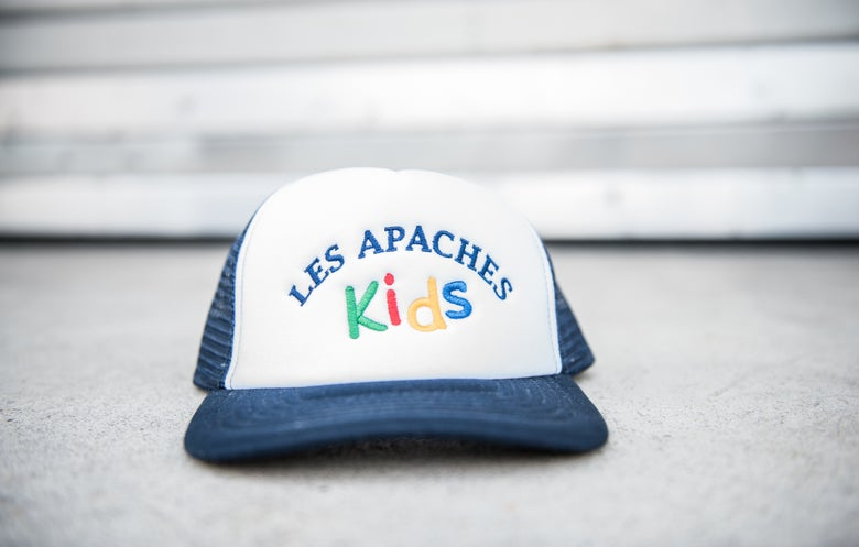 Image of Les Apaches Kids Trucker Cap Black