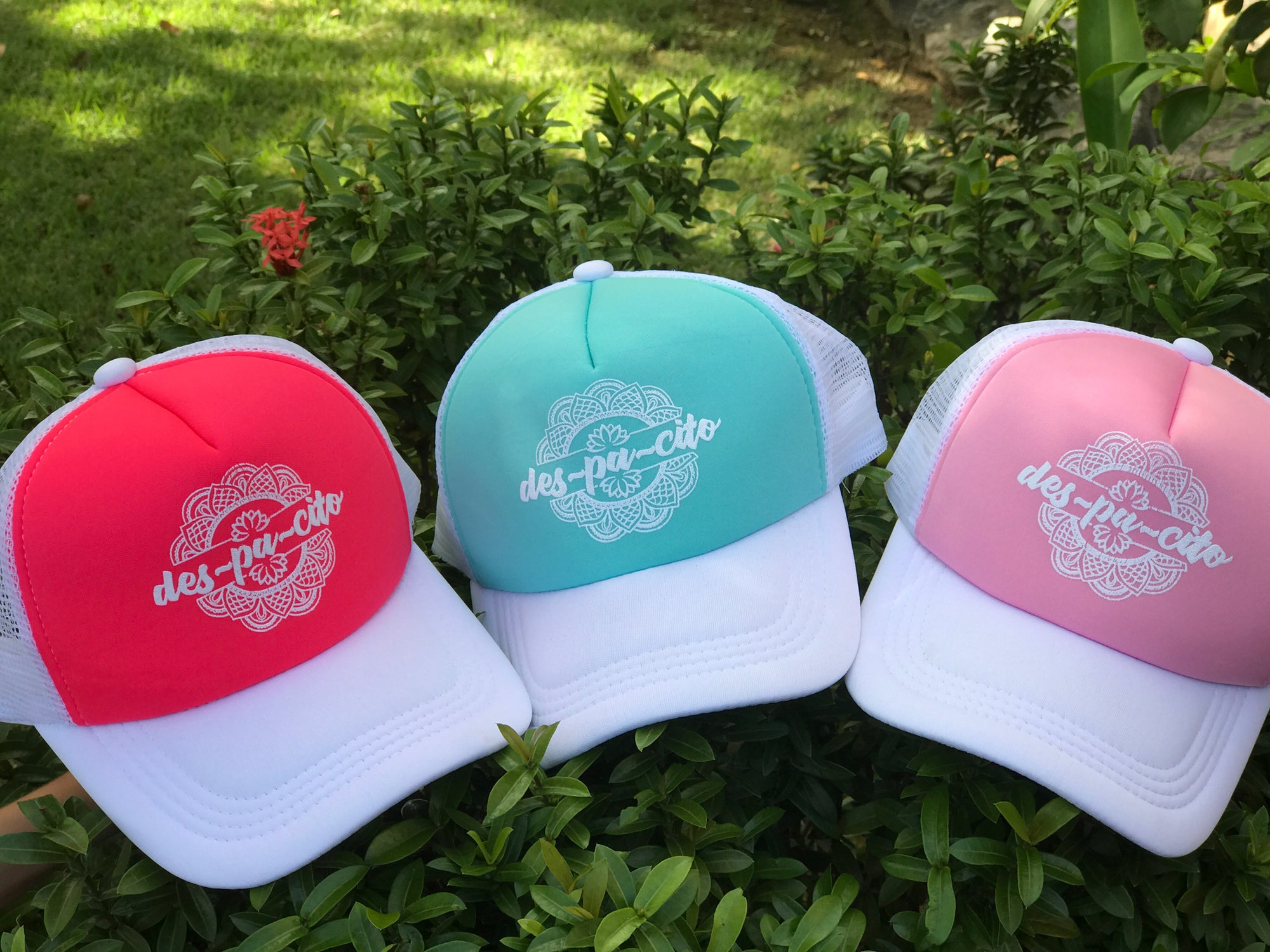 con • sentido   — Despacito Pastel Colors Trucker Hat 5763311f6e74