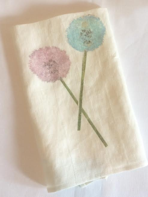 Image of Make a Wish Dandelion Tea Towel