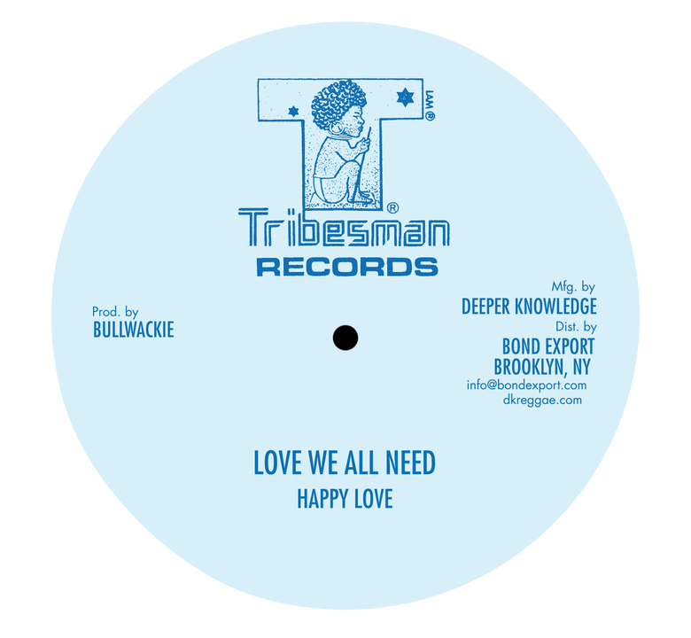 "Image of Happy Love / Wackies - Love We All Need / Roots Rock Special 10"" (Tribesman)"