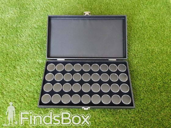Image of Metal Detecting Finds Box Gift - 36 Capsule Display Case