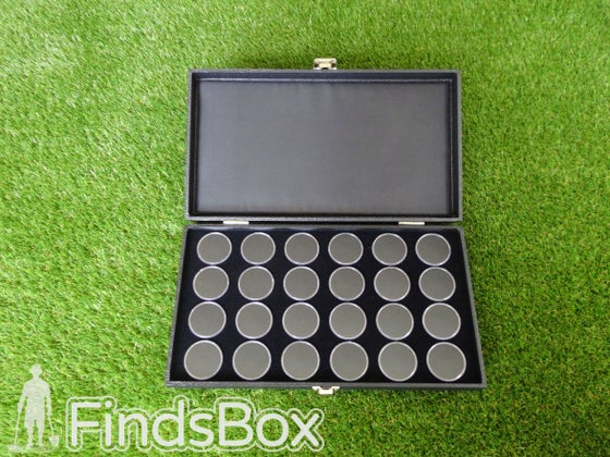 Image of Metal Detecting Finds Box Gift - 24 Capsule Display Case