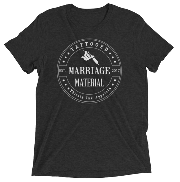 Image of Marriage material Triblend T-Shirt Black