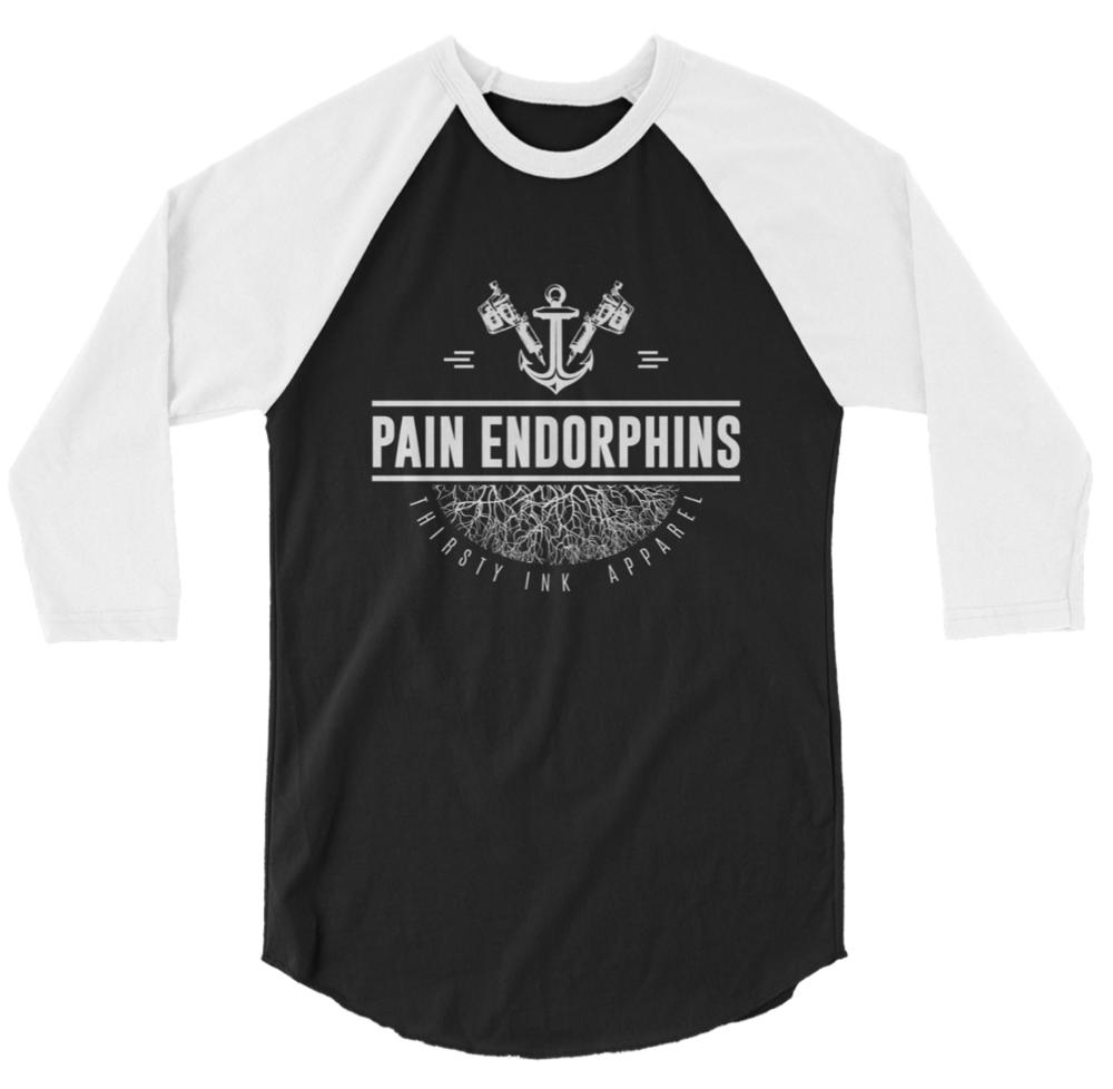 Image of Pain Endorphins Raglan Black