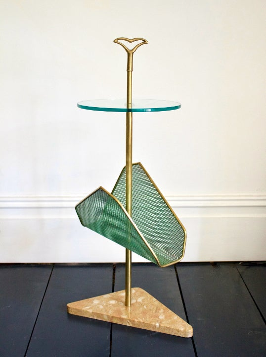 Image of Side Table with Magazine Rack, Italy 1950s