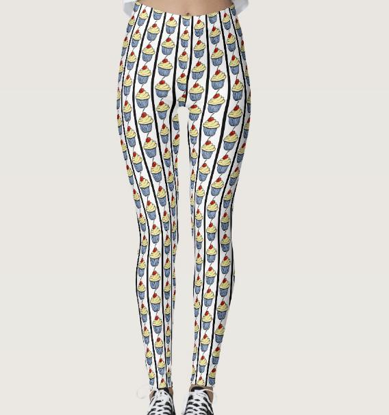 Image of Cupcake Stripe Leggings