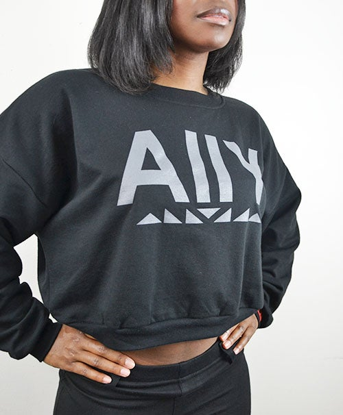 Image of AllY Cropped Sweatshirt