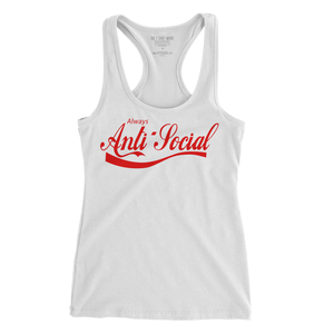 Image of Always Anti-Social - Ladies' Racerback Tank