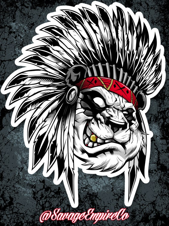 "Image of SAVAGE CHIEF ""Gold Tooth"" EDITION STICKERS"