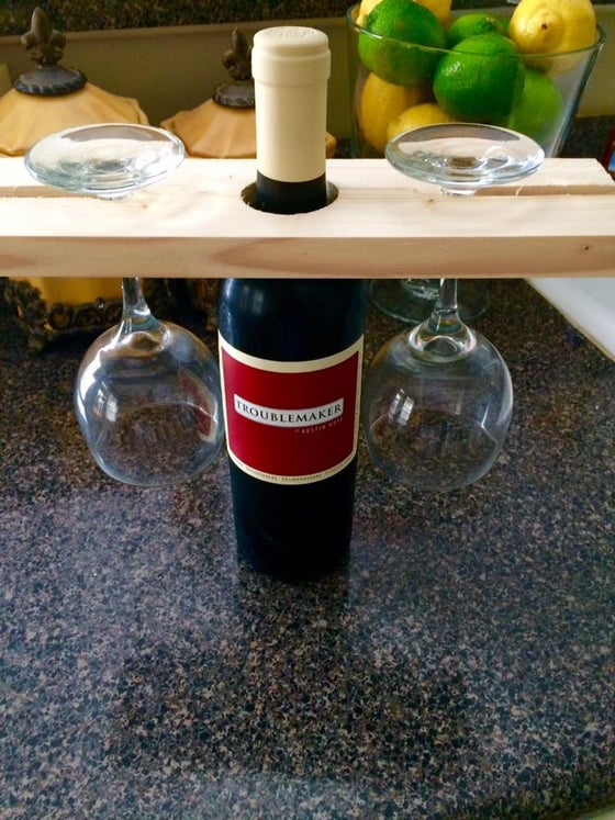 Image of Bottle Neck Wine Glass Holder