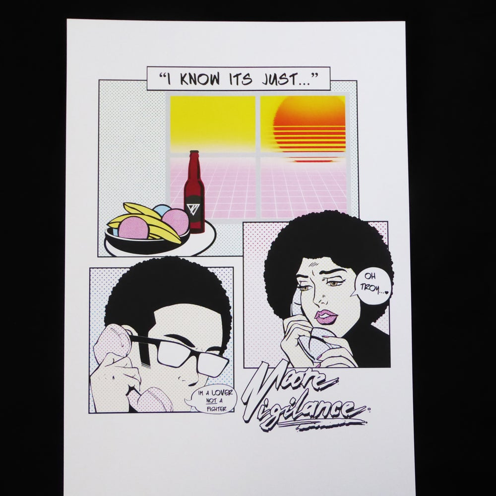 Image of 'Lover Not A Fighter' A3 Print