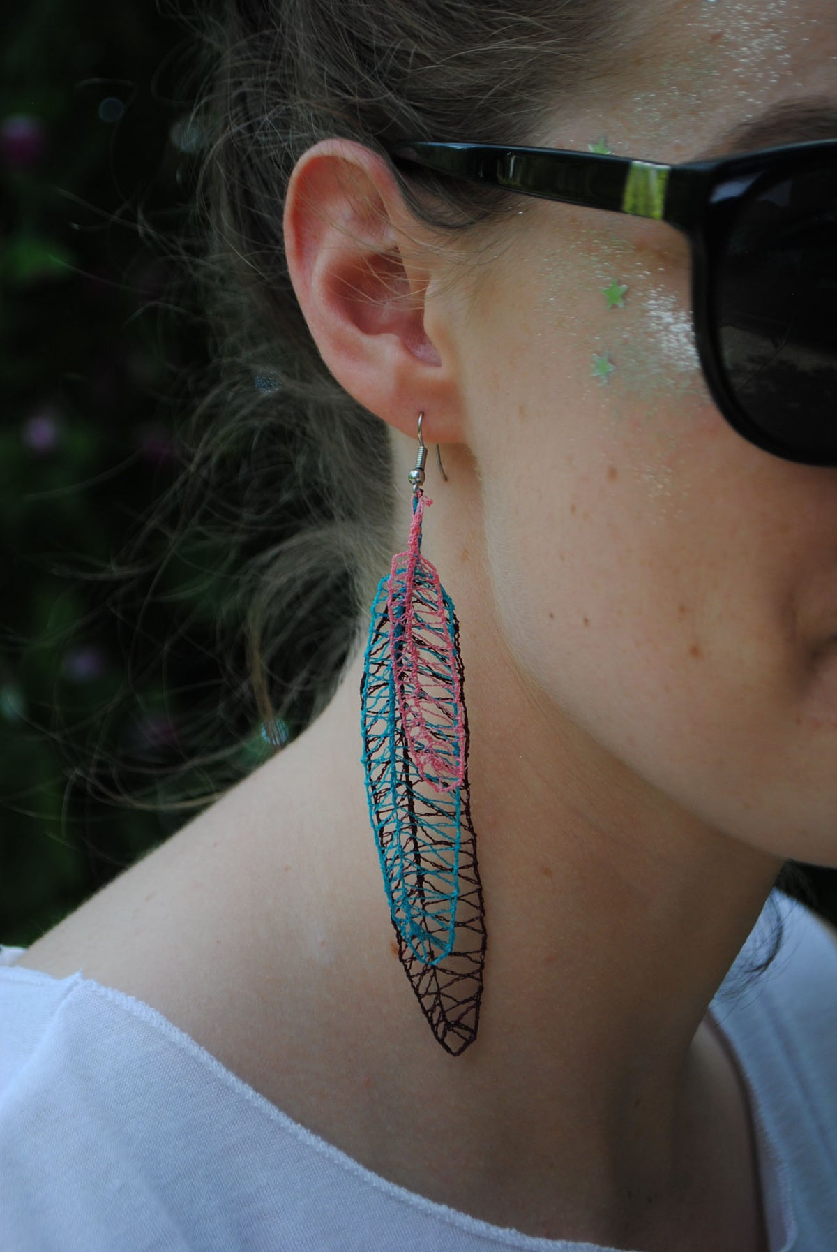 Image of Pair Feather Earrings
