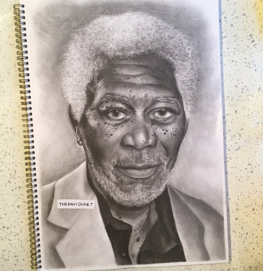 Image of Morgan Freeman - Detailed A3 Portrait