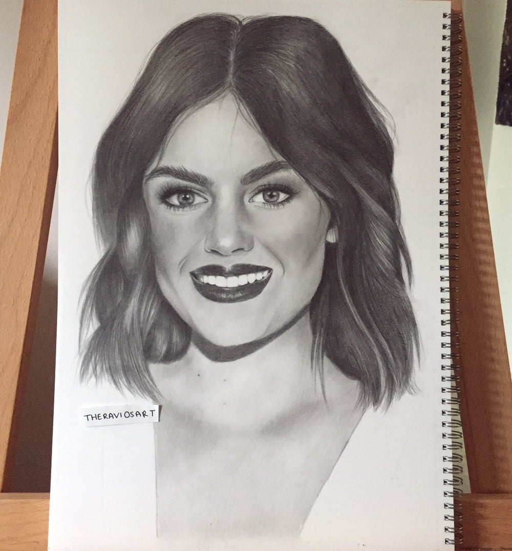 Image of Lucy Hale - A3 Detailed Portrait Drawing