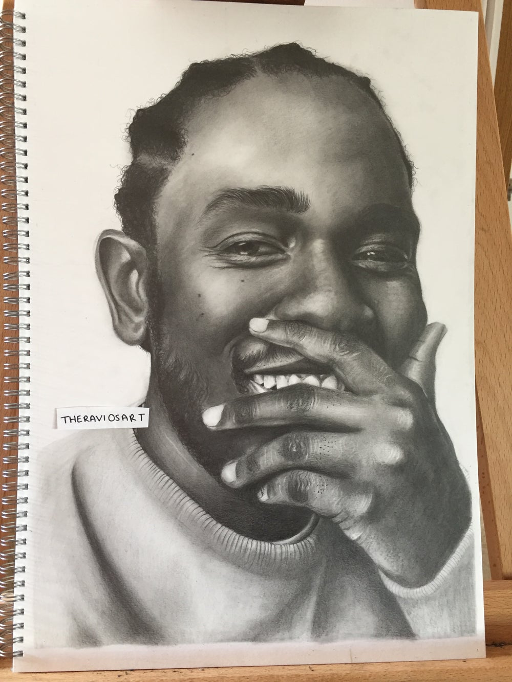 Image of Kendrick Lamar - A3 Detailed Portrait Drawing