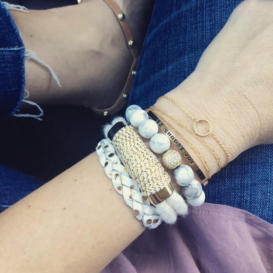 Image of Open circle bracelet