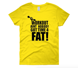 """Image of """"Workout"""" Tee YELLOW"""