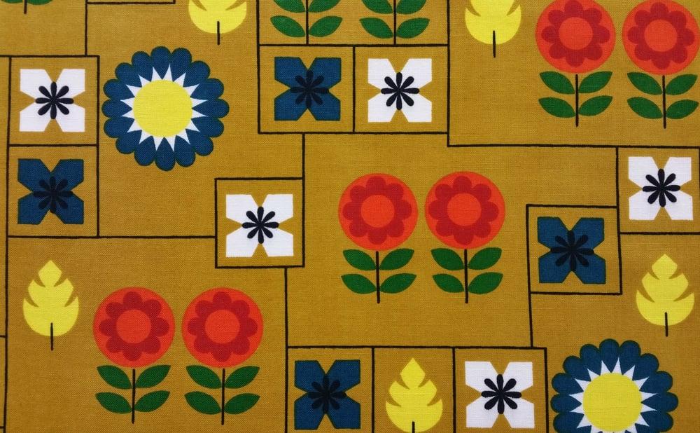 Image of Mustard Scandi Vintage Fabric
