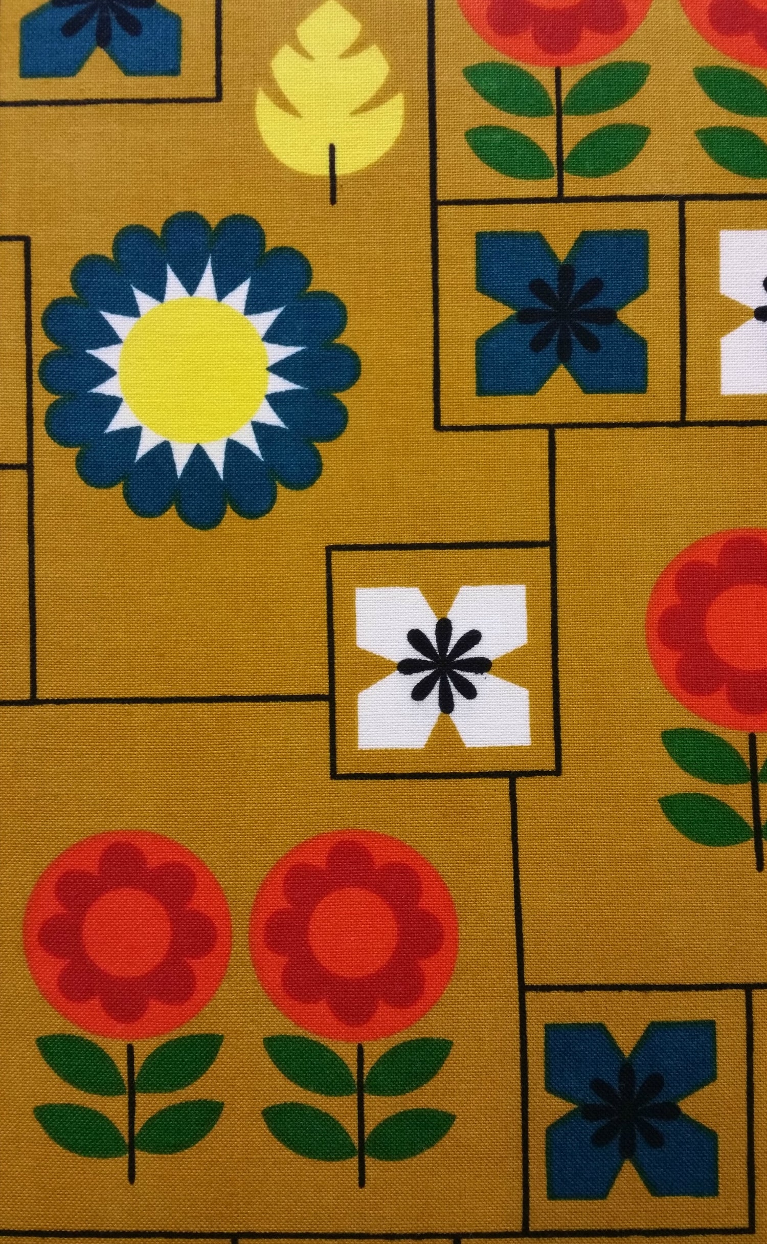 Image of Mustard Scandi Vintage Fabric