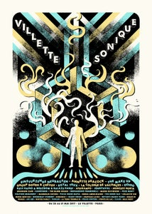 Image of VILLETTE SONIQUE Festival (Paris 2017) screenprinted poster