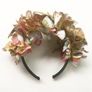 Image of Golden Glitter Flower Crown SOLD OUT
