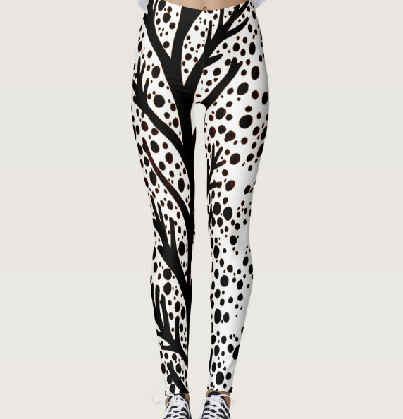 Image of Vines and Dots Leggings